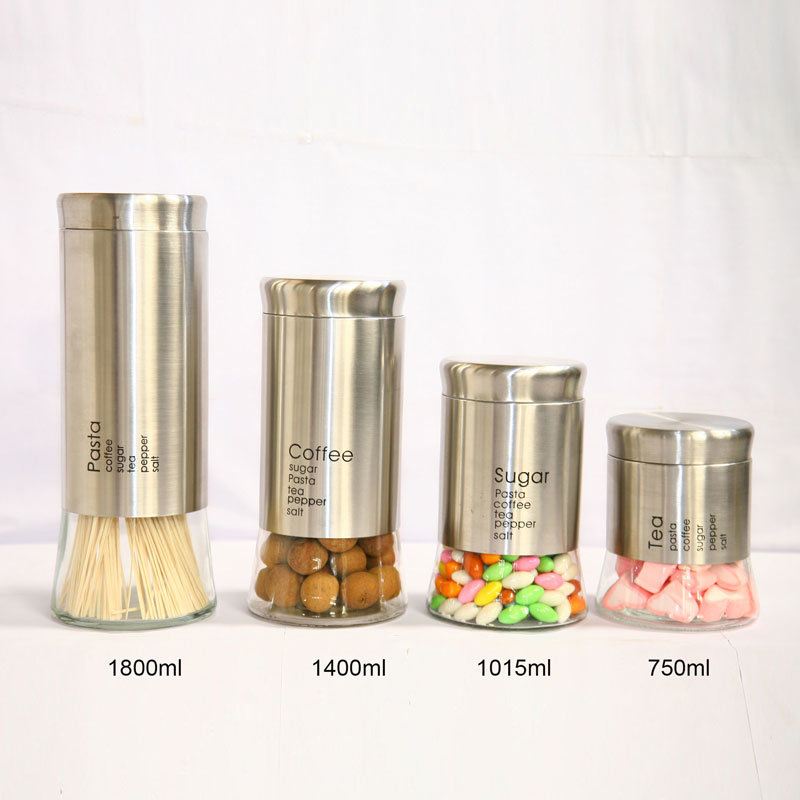 Stainless Steel Food Storage Canisters with Decoration pictures & photos