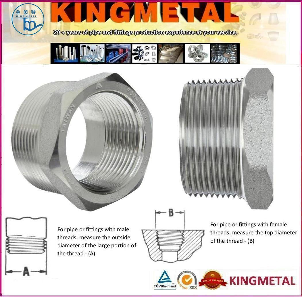 Class 3000 Cap 1//2 NPT Female 304//304L Forged Stainless Steel Pipe Fitting