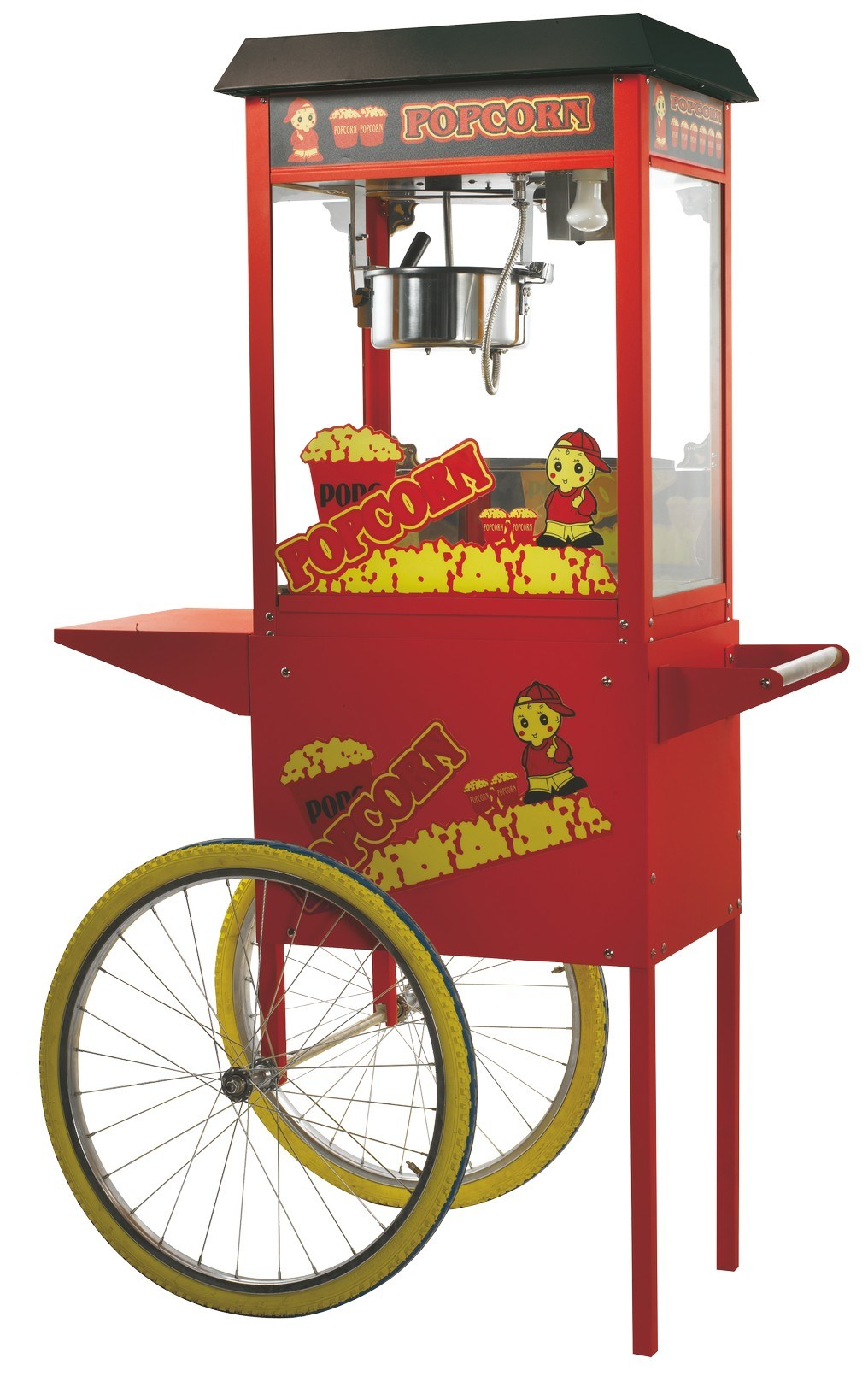 24 Oz Floor Stand Popcorn Machine with Wheel pictures & photos