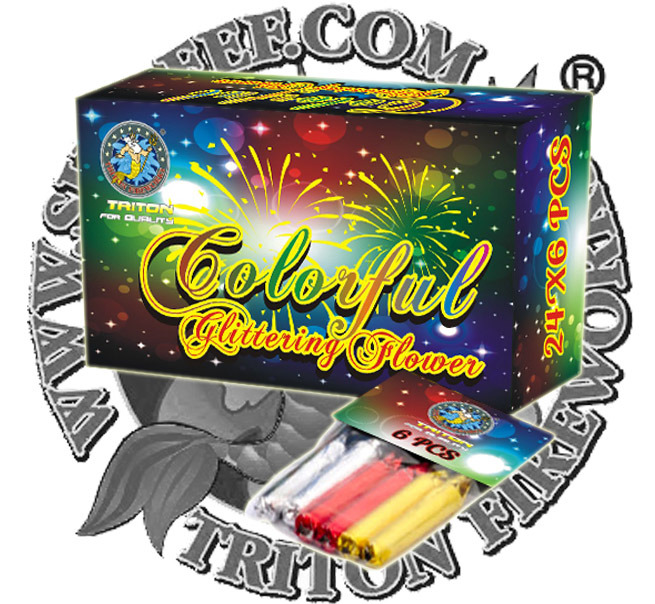 Colorful Glitter W/Crackling 50 PCS Fireworks Firecrackers