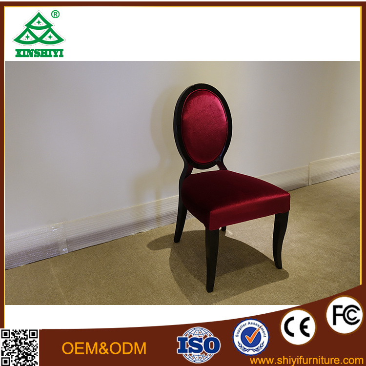 Deep Red Vanity Chair Single Chair For Bedroom Furniture