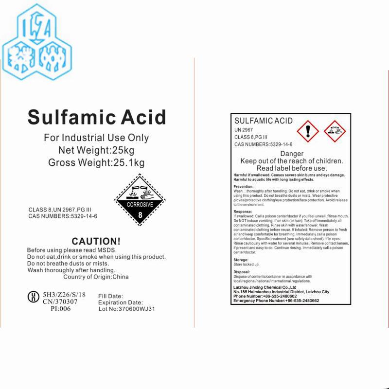 [Hot Item] Water Treating Chemical Material Industry Grade Sulfamic Acid