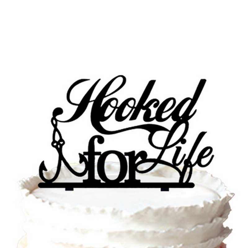 Enjoyable China Hooked For Life Fishing Silhouette Wedding Cake Topper Funny Birthday Cards Online Eattedamsfinfo