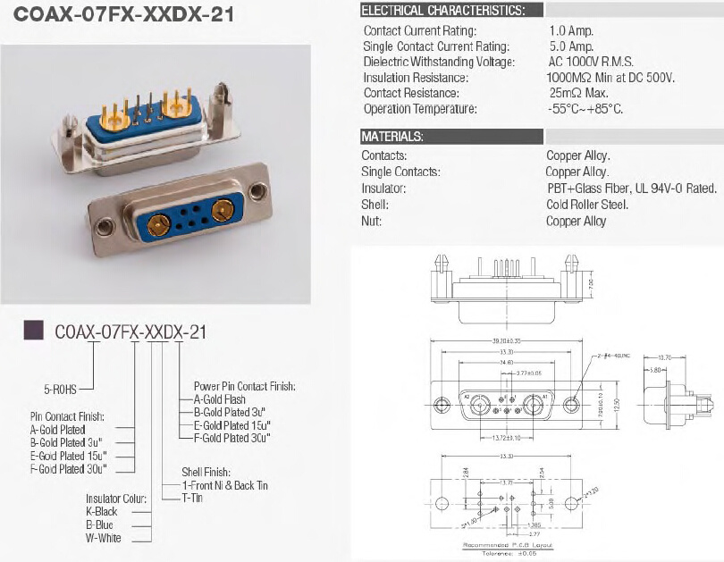 Coax-07fx-Xxdx-21 Connector