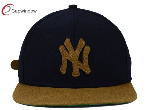 China new york fashion panel snapback hat with applique design