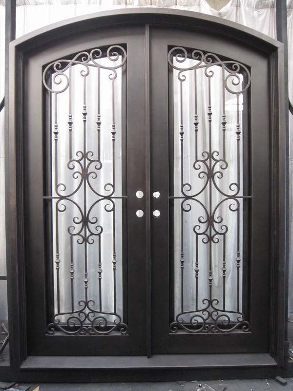China Lowes Wrought Iron Security Doors Residential Wrought Iron