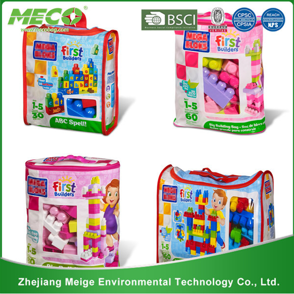 Laminated Non Woven Toy Storage Packaging Bag (MECO1118)