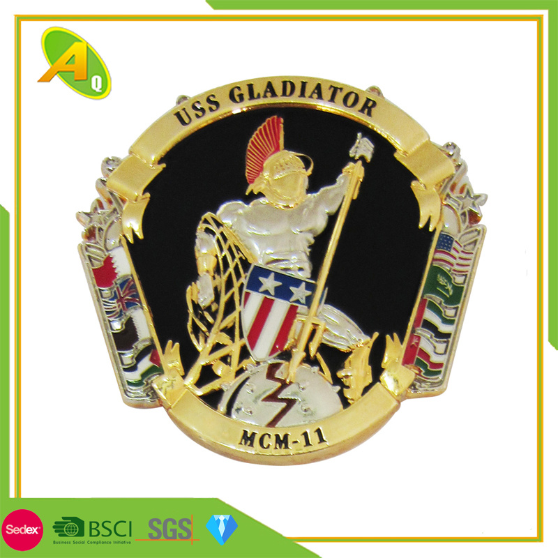 [Hot Item] Promotion Custom Aviation Support Division Engraved Logo Metal  Challenge Coin (260)