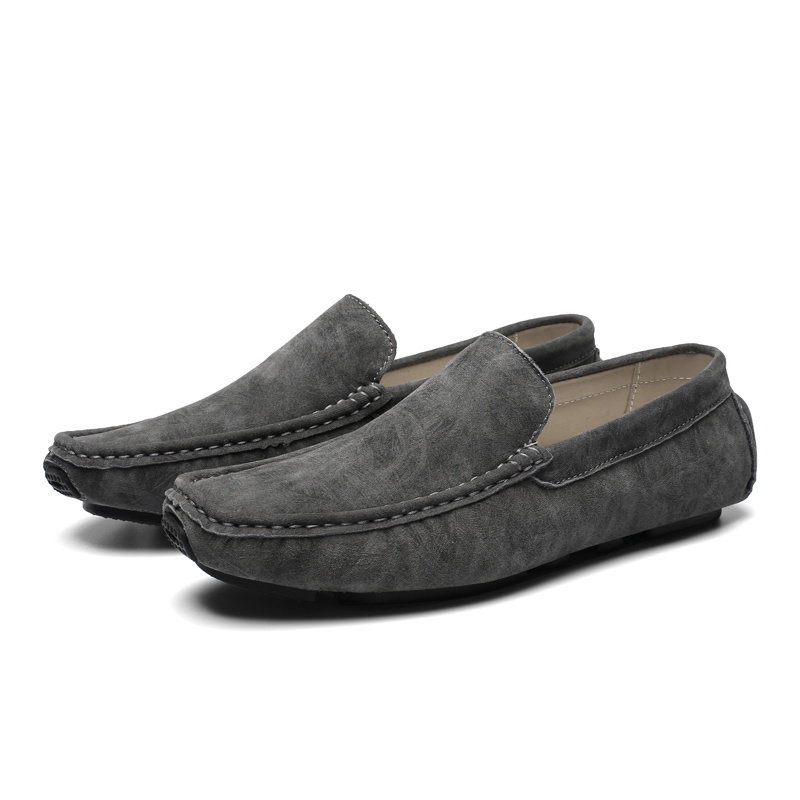 China Mens Slip on Cheap Casual Leather