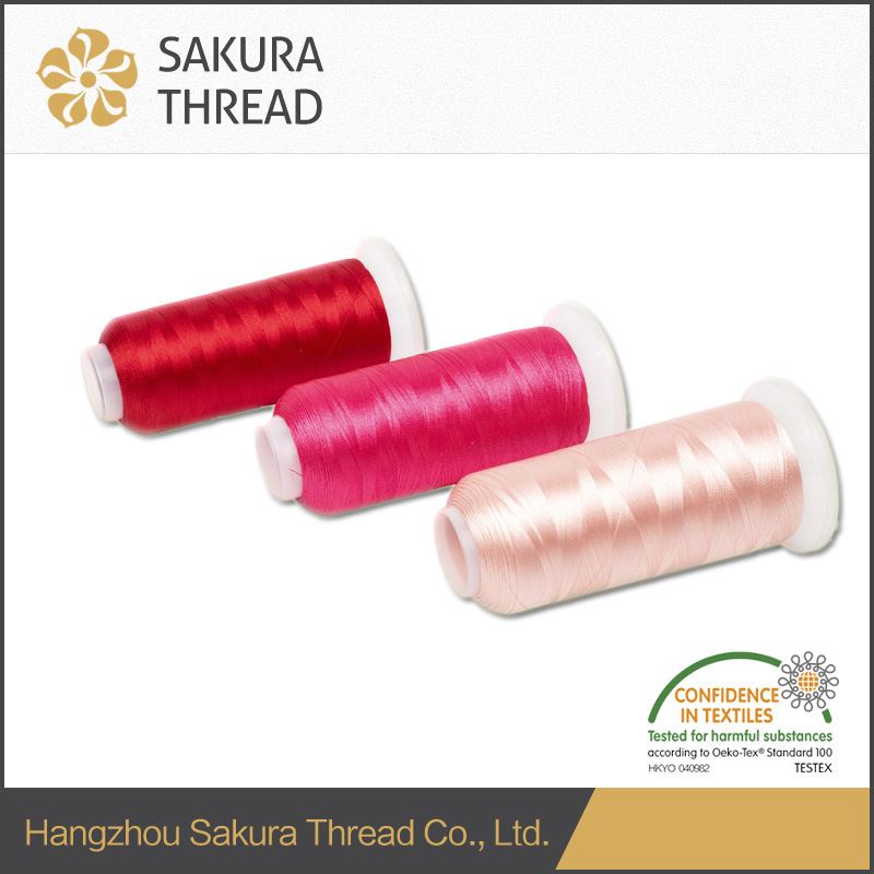 Polyester Embroidery Thread with High Tenacity for Jeans pictures & photos