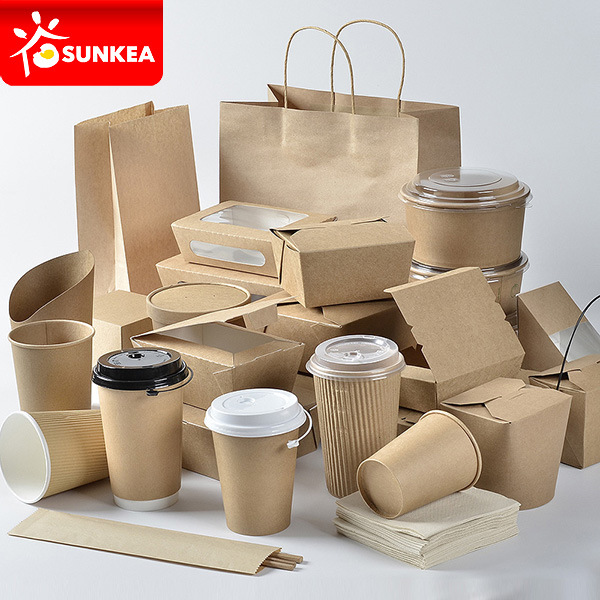 Custom Brand Printed Disposable Paper Fast Food Packaging pictures & photos