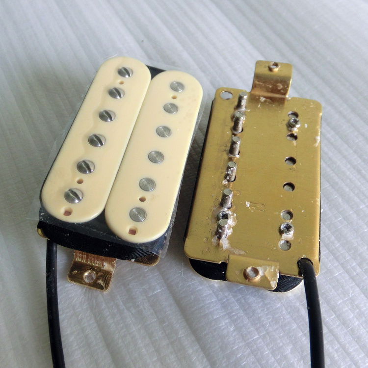Wax Potted AlNiCo 2 Cream Color Humbucker Guitar Pickup