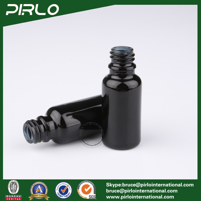 20ml Black Lightproof Glass Spray Bottles with White New Pump Sprayer