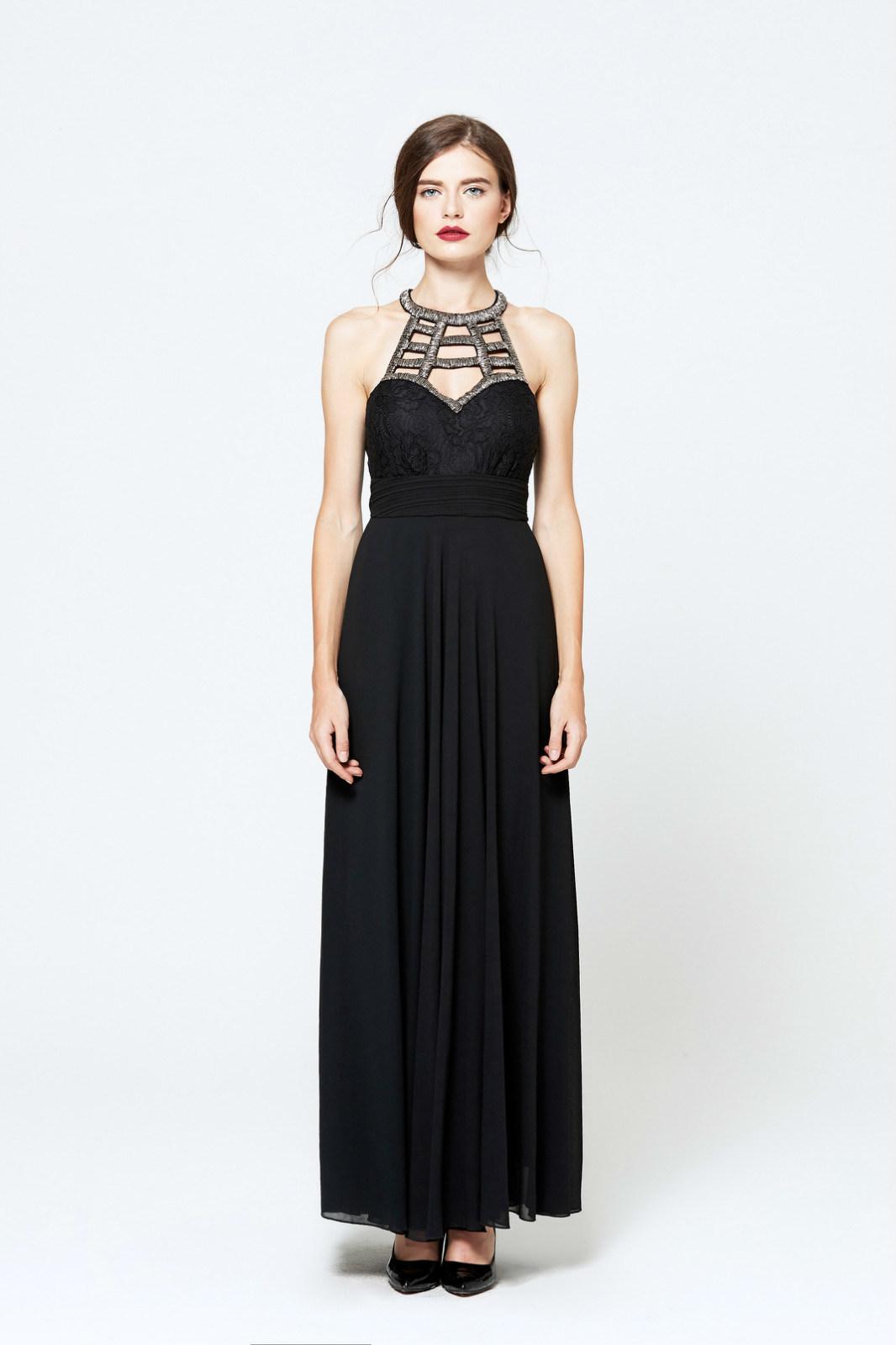 Chiffon Black Gown