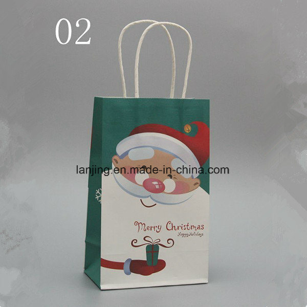 Bw213 fashion Christmas Paper Gift Bag with Handle pictures & photos