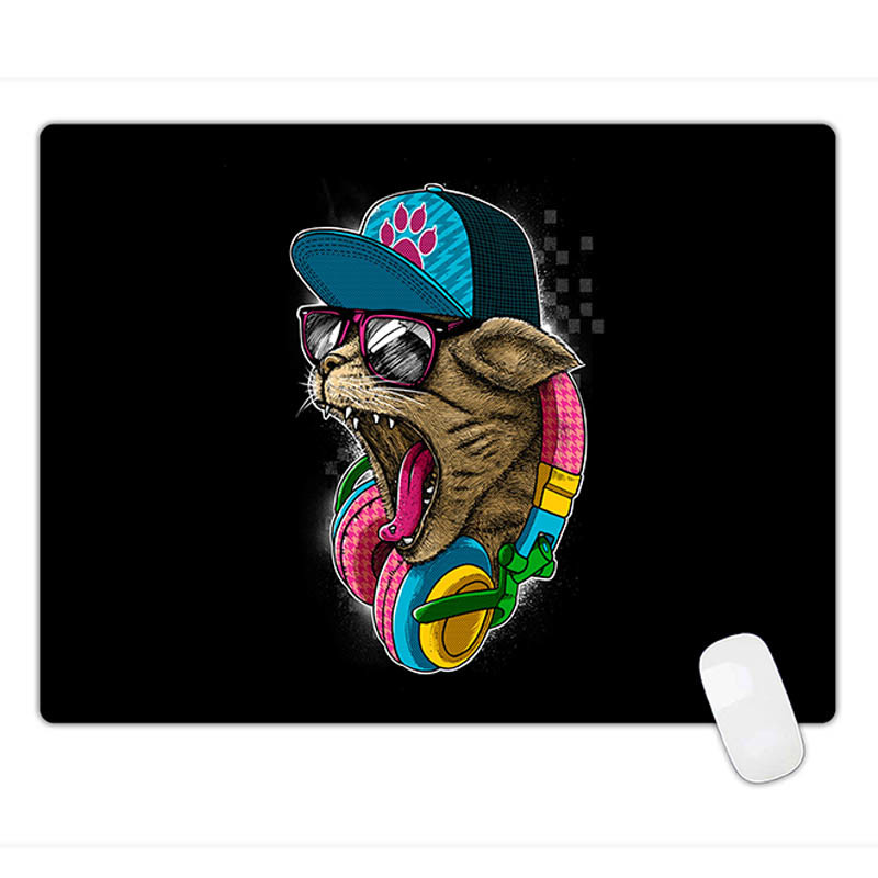Fashion Style Black Anti-Slip Computer PC Rubber Game Mouse Pad Mat