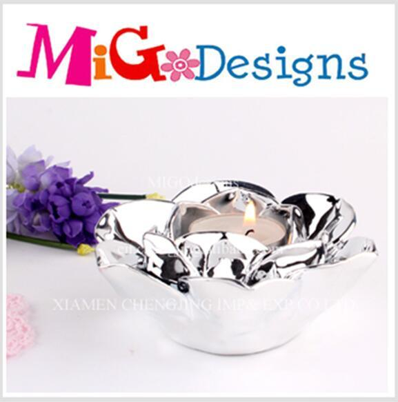 Wholesale Shiny Sliver Plated Candle Holder