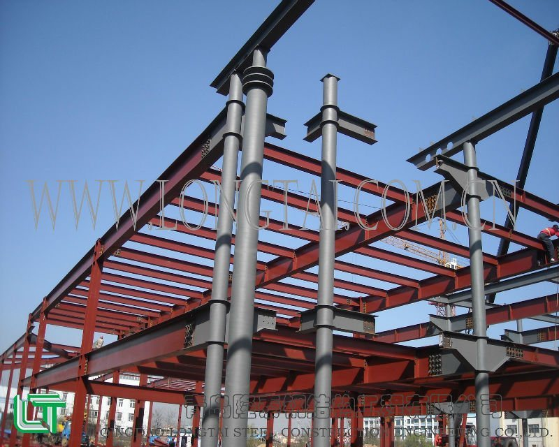 China Fireproof Light Steel Frame Construction - China Steel ...