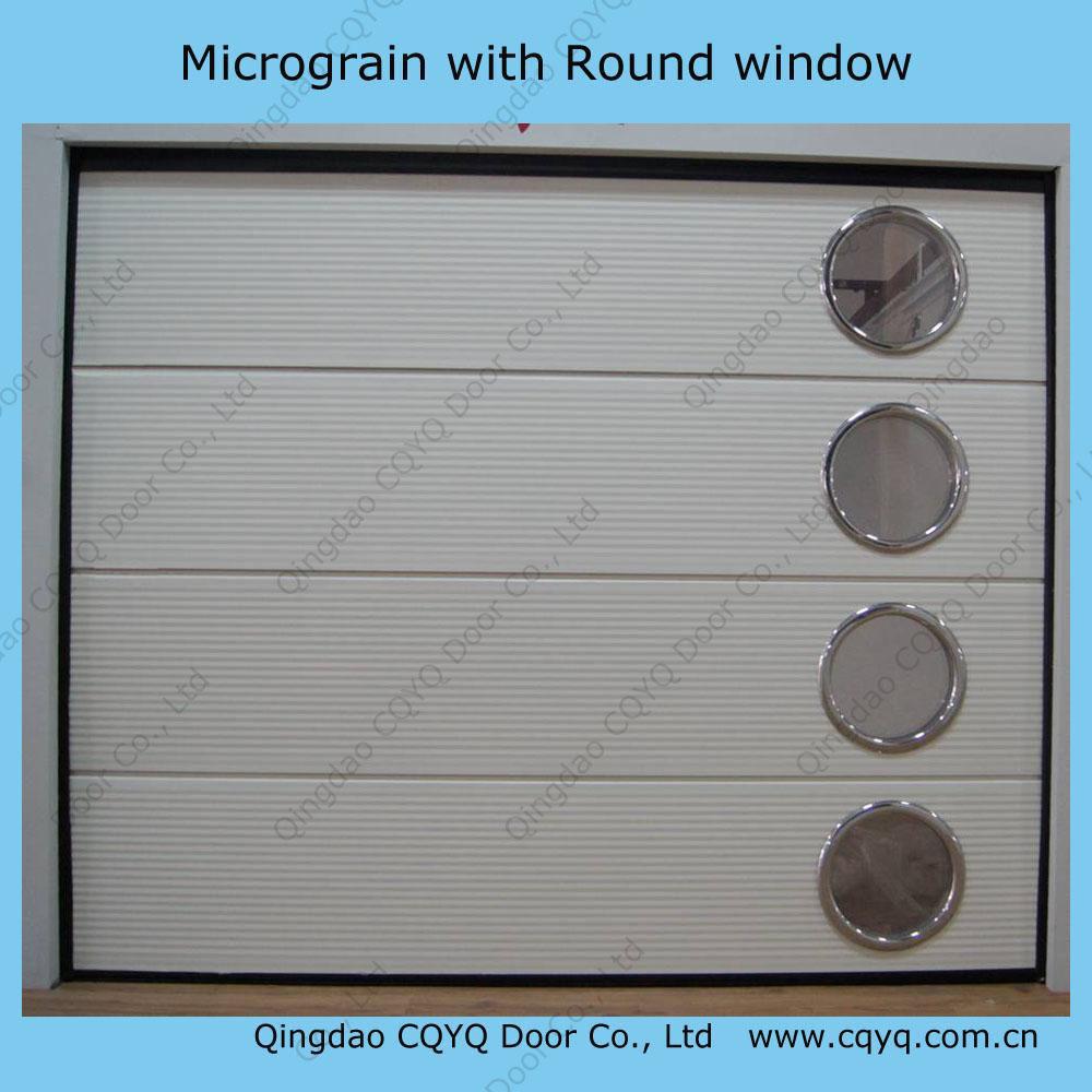 China Overhead Garage Door With Round Windows China