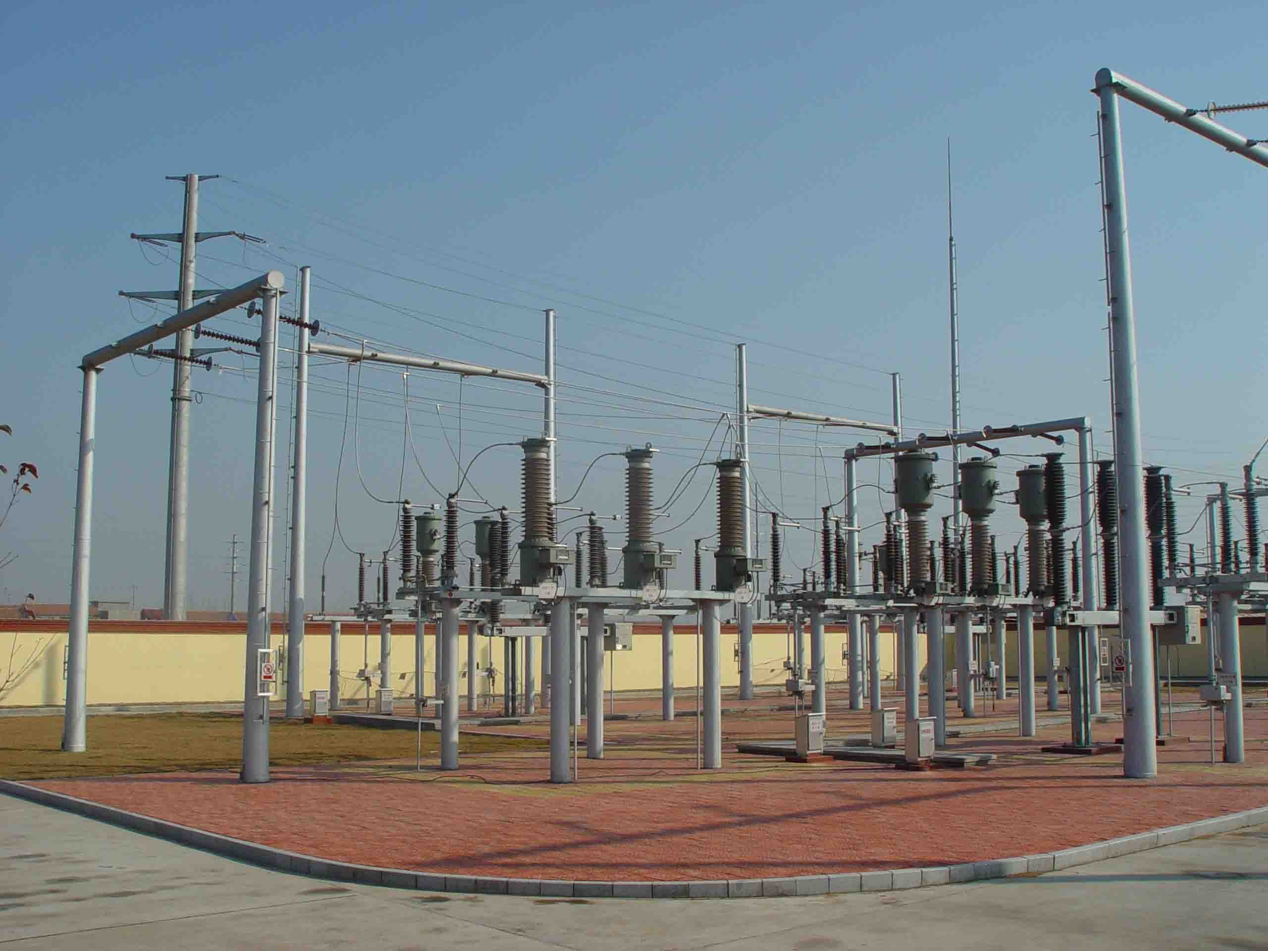 Electrical Substation Stock Photo - Download Image Now