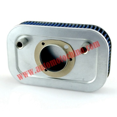 Filtro aria per Harley Davidson Sportster XL883 XL883N XL883R XL883P XL1200 XL1200L XL1200X Ferro 883 Forty Eight XL1200X 2004-2016 CNC Alluminio Bianco Bianco Lavabile in lavatrice