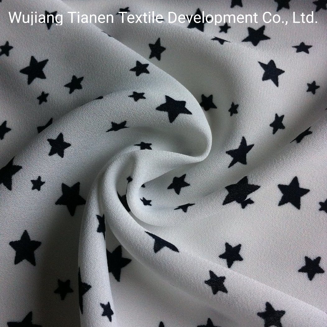 China 100 Polyester Star Printed Fabric For Children Dress