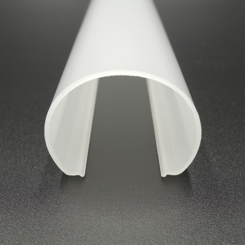 China Plastic Extrusion Lighting Fixtures Pc Linear Cover