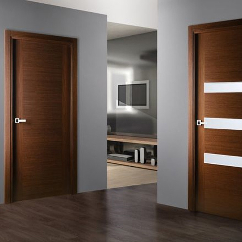 China Interior Bedroom Entry Modern Teak Wood Main Door Latest Design Wooden Doors Photos