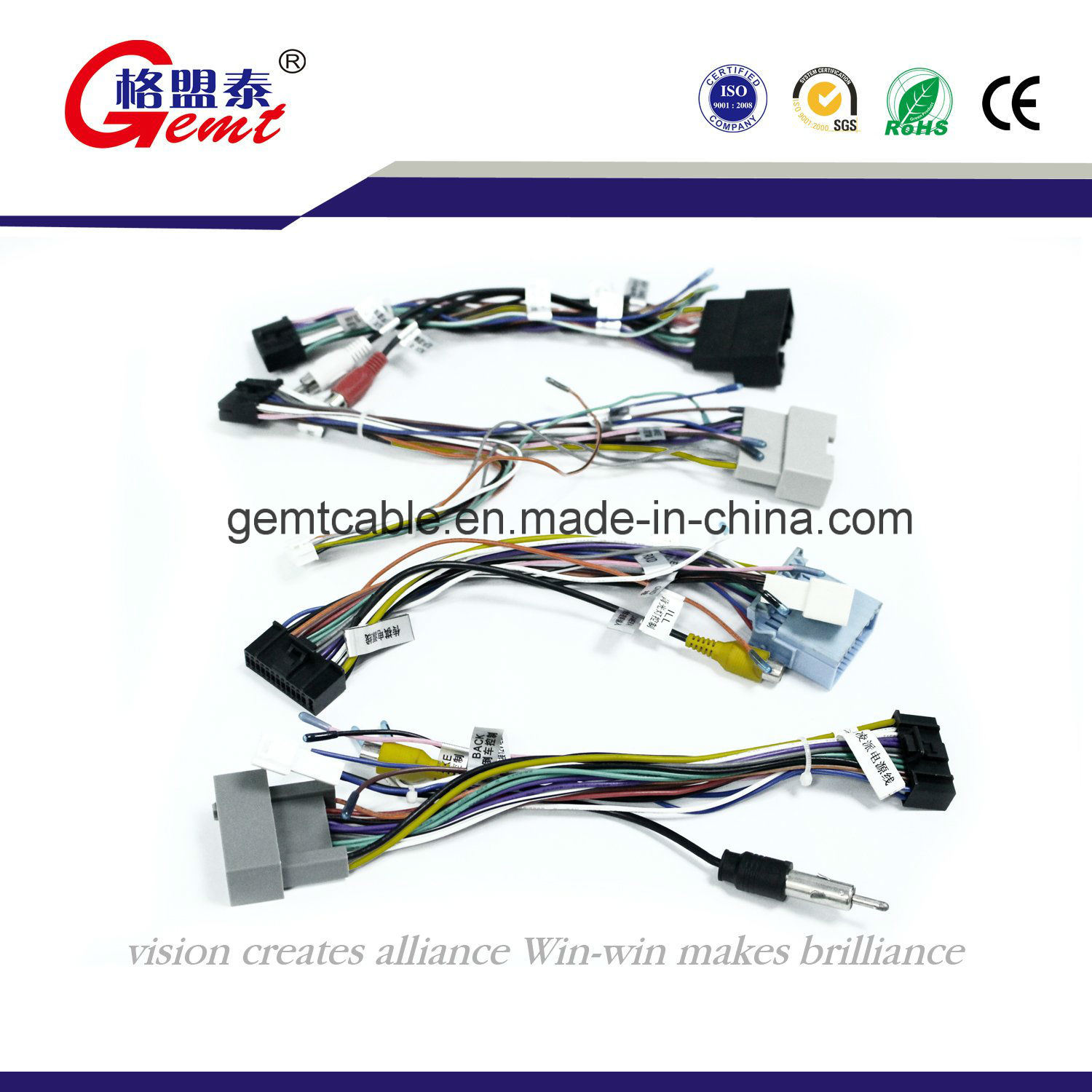 China Factory Car Audio Wire Harness With High Quality Auto Cable Automotive
