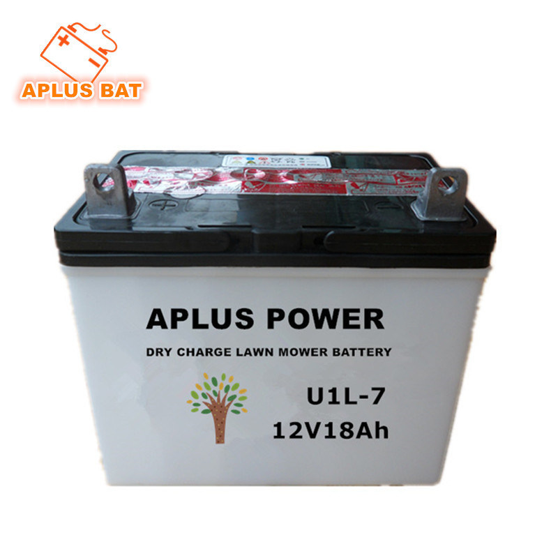 china rechargeable u1l 7 12v18ah dry charge garden tractor lead acid battery china lawn mower battery riding mowers battery - Garden Tractor Battery