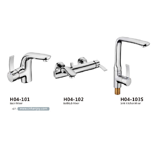 High Level Deck Mounted Single Handle Brass Basin Tap (H04-101) pictures & photos