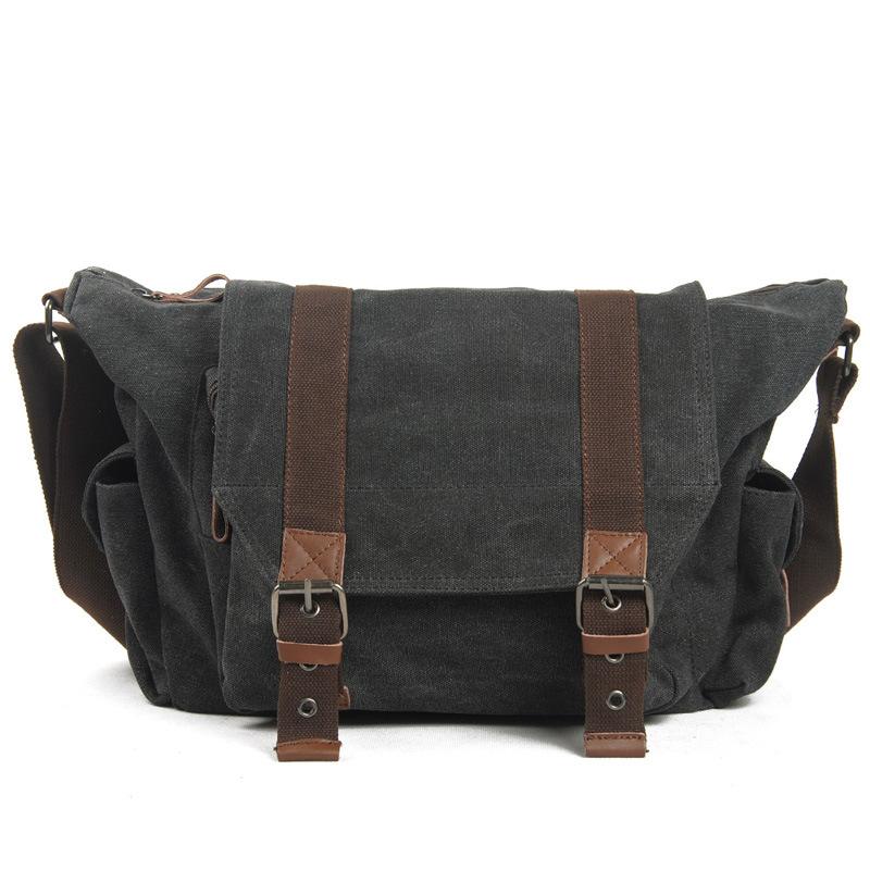 [Hot Item] Heavy Duty Canvas Designer Bags Travel Bags Vintage Canvas Bag  Heavy Duty Messenger Shoulder Bag RS6861