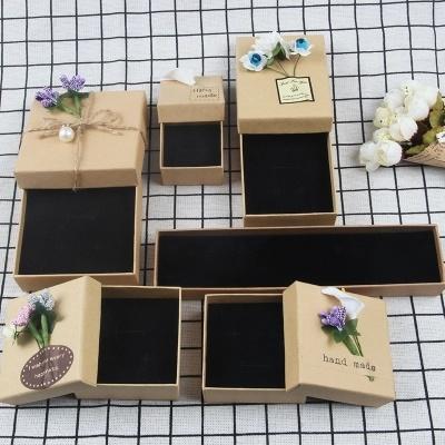 Hot Item Kraft Paper Box Gift Box Retro Jewelry Box Creative Jewelry Box Diy Earrings Necklace Necklace Box