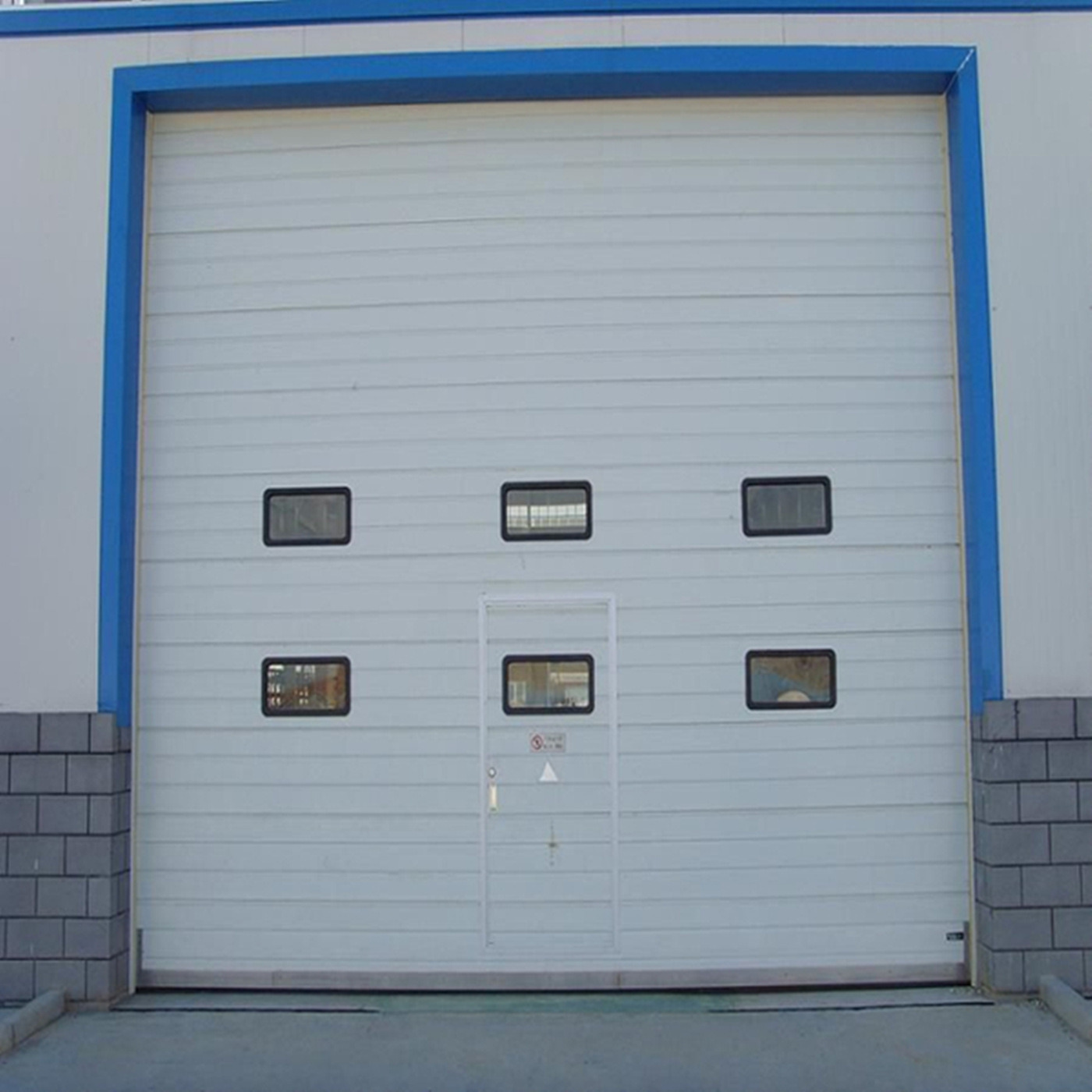 economy insulated industrial non steel ribbed garage doors
