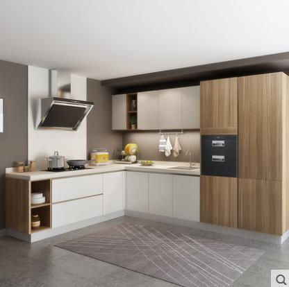 China Modern Home Hotel Furniture Wood Kitchen Cabinet Kit