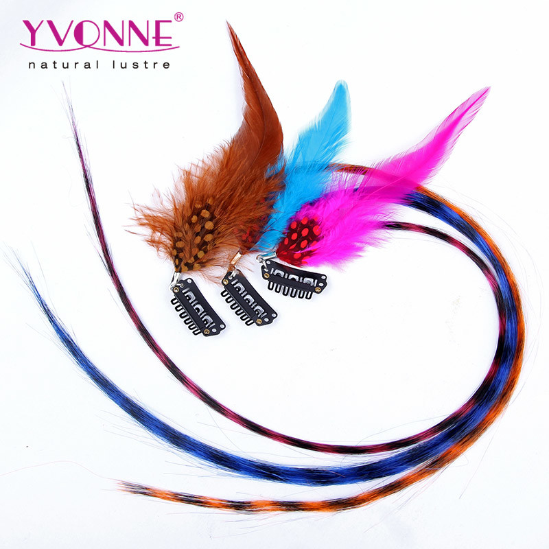 China Wholesale Real Feather Clip In Hair Extension China Hair