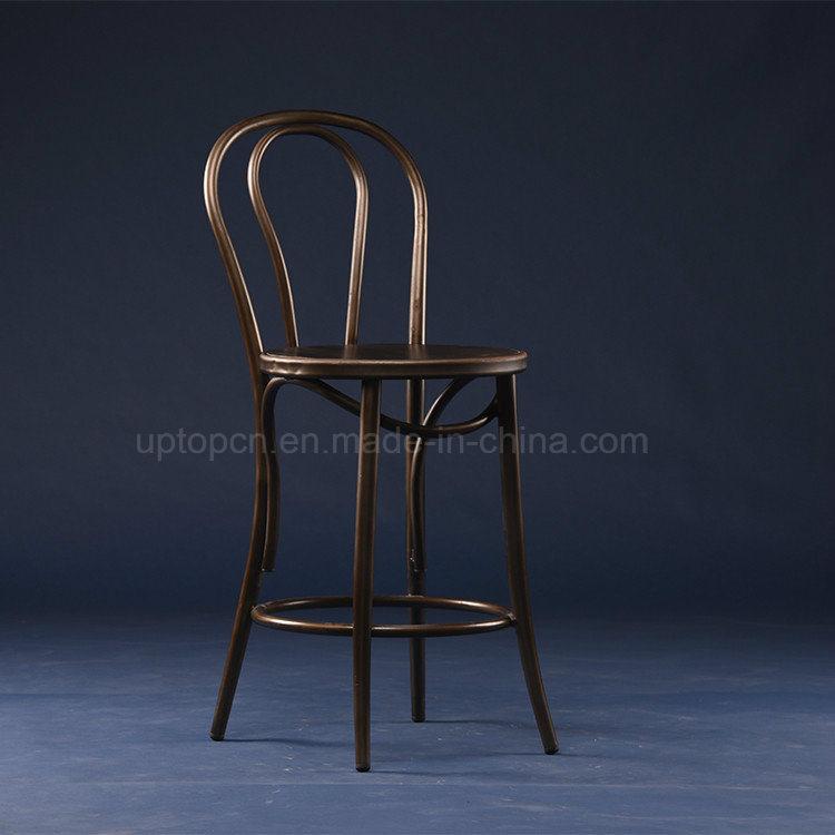 China Vintage Metal Round Seat High Thonet Chair (SP MC071)   China Thonet  Chair, Bistro High Chair