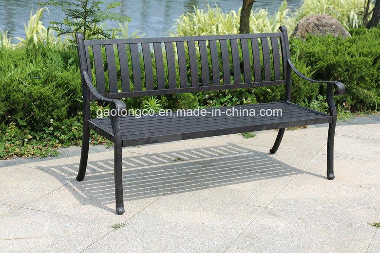 China 2 Person Black Checd Cast, Black Cast Aluminium Garden Bench