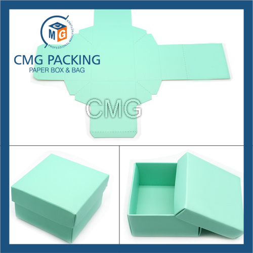 Paper Card White Card Paper Folded Jewelry Box (CMG-PJB-082)