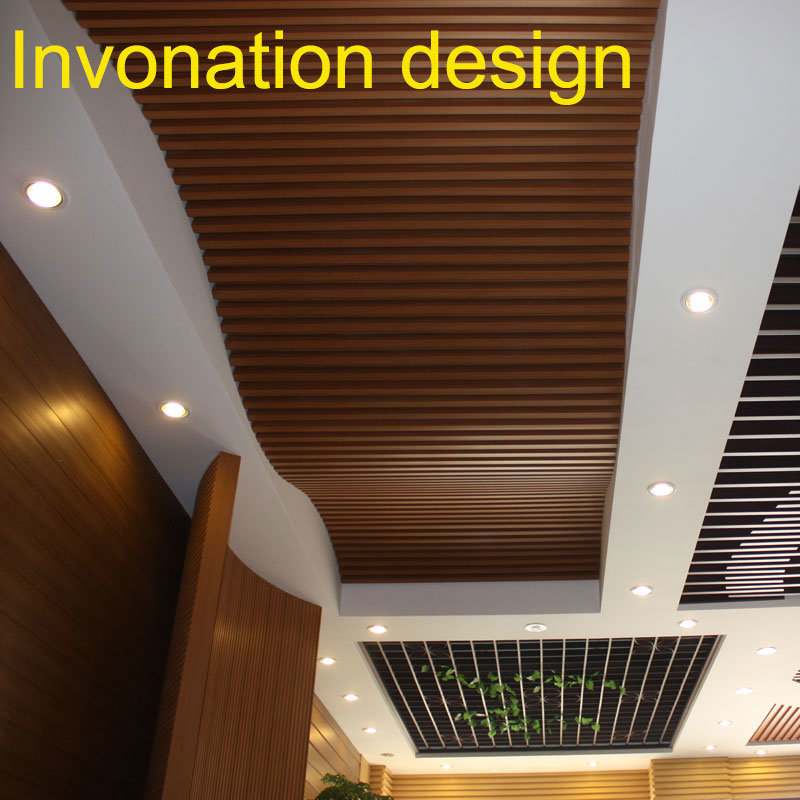 China Indoor Decoration Composite Wood Ceiling Friendly Environmental Wpc Decorative