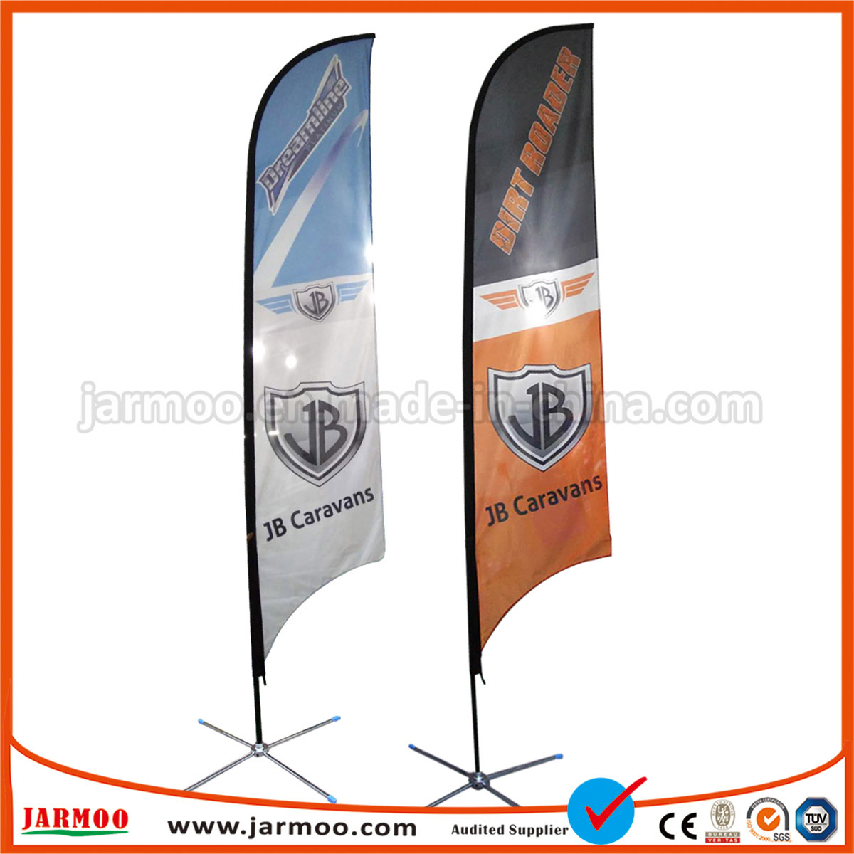 - Style 4 FedEx Double-Sided, Poles and Spike Base Included 10ft Feather Banner