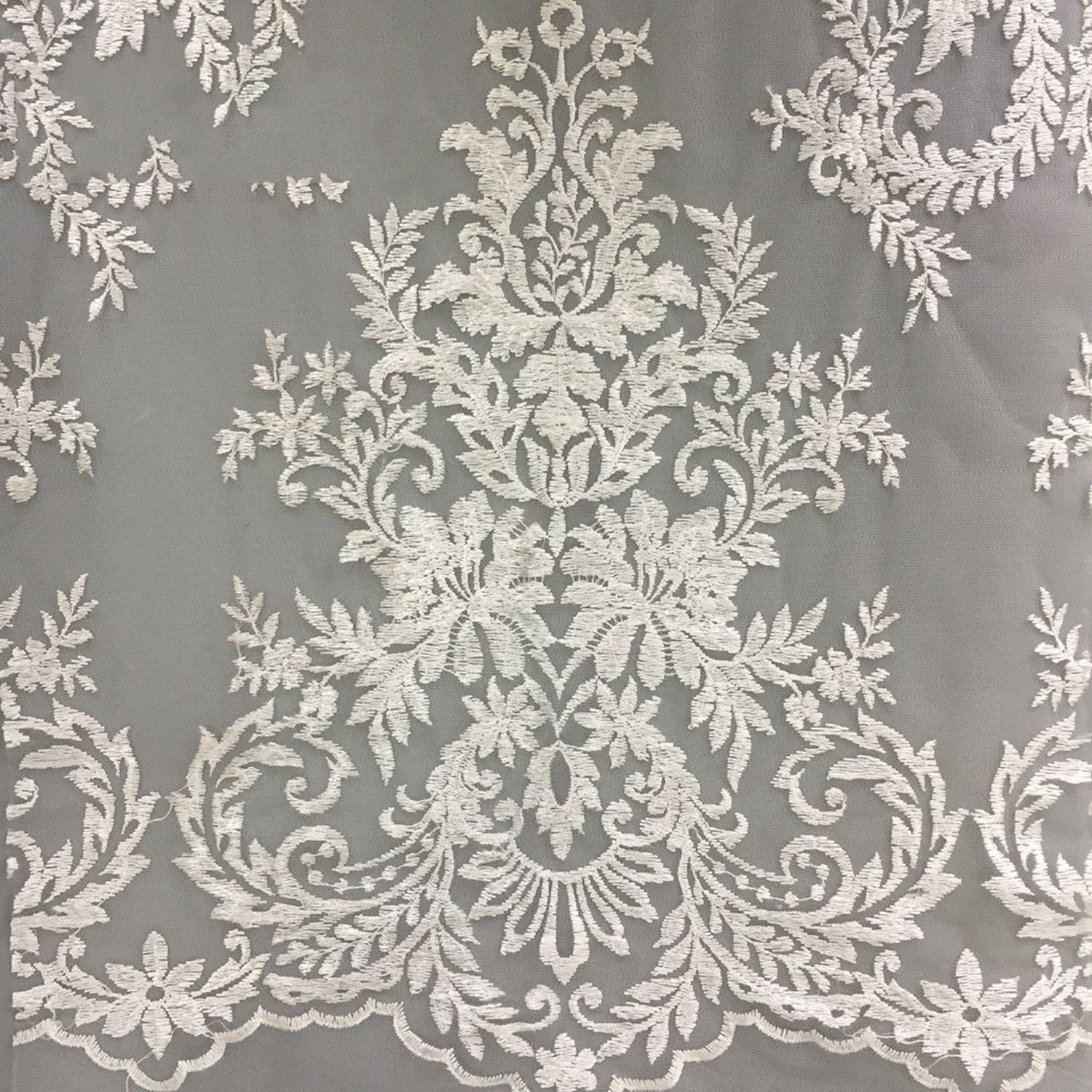 China Hot Products Custom Design Hot Sale Embroidered Lace Fabric China Embroidered Lace Fabric And Lace Fabric New Sample Price