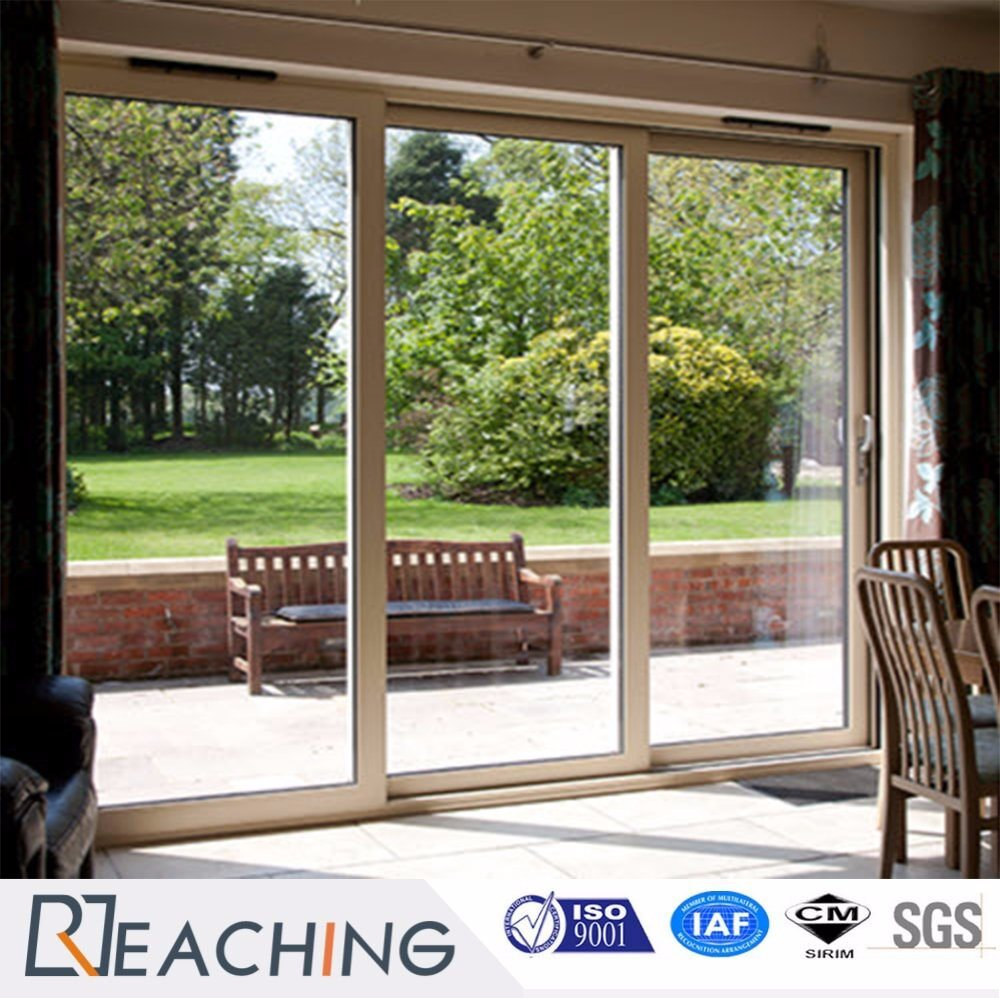 China Upvc Pvc Double Glazed Sliding Doors Clear Glass For