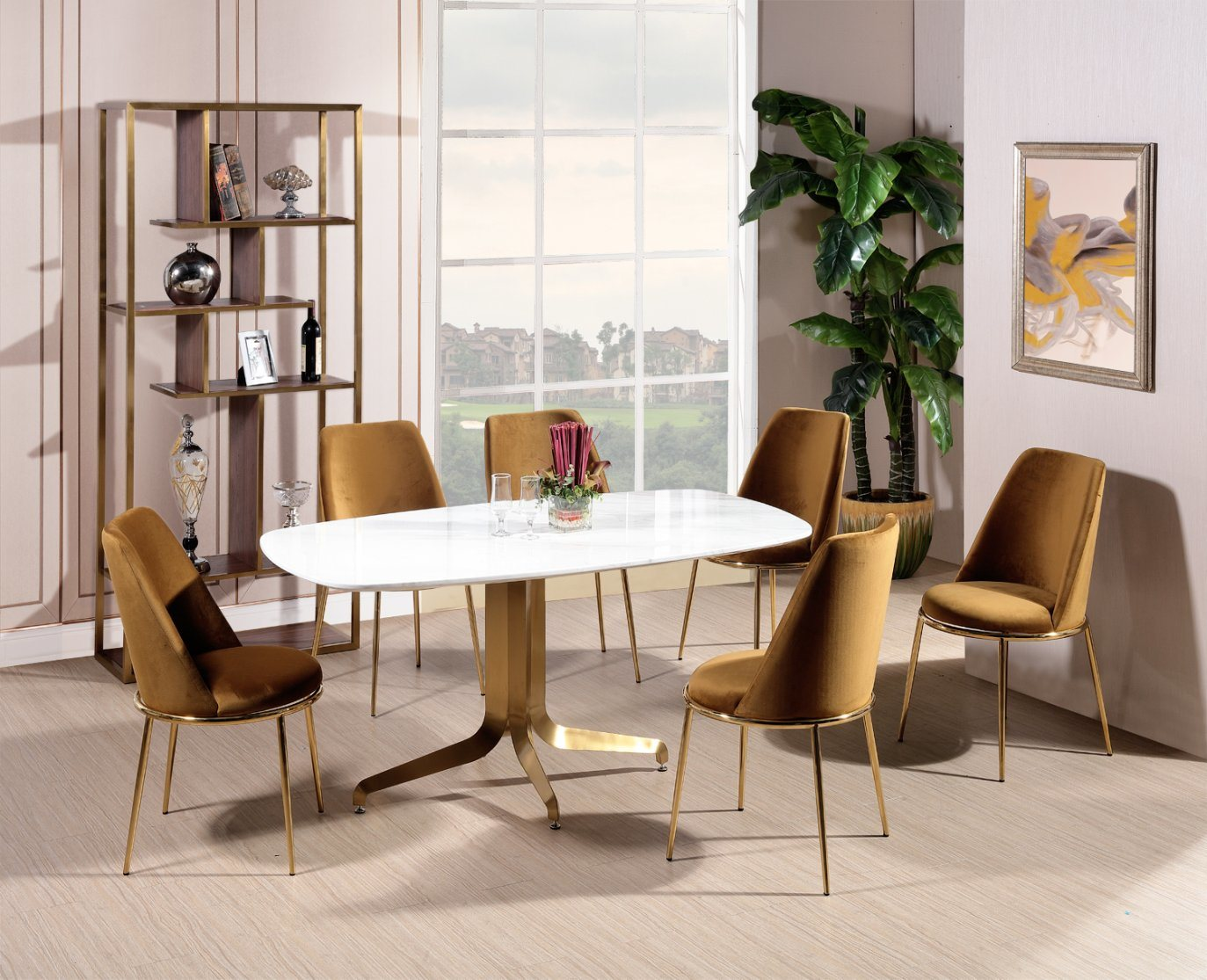 China Stainless Steel Leg Comfortable Dining Chair In Gold Velvet Fabric China Home Furniture Dining Chair
