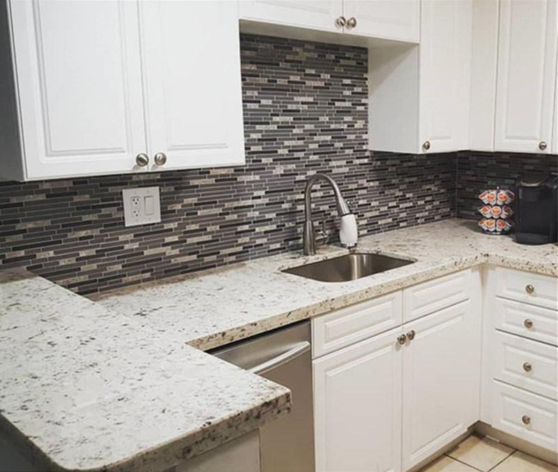 White Granite Countertops For Kitchen