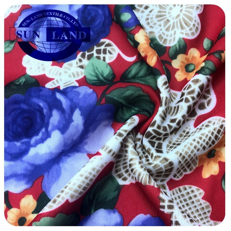 100%Custom Print Interlock Knit Jersey Fabric for Sports Shirt Home Bedding Textile pictures & photos