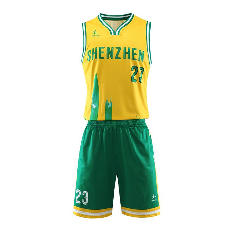 best service 2daaf 5c6cb [Hot Item] Healong Free Design Team Basketball Jersey Set College Custom  Basketball Uniforms