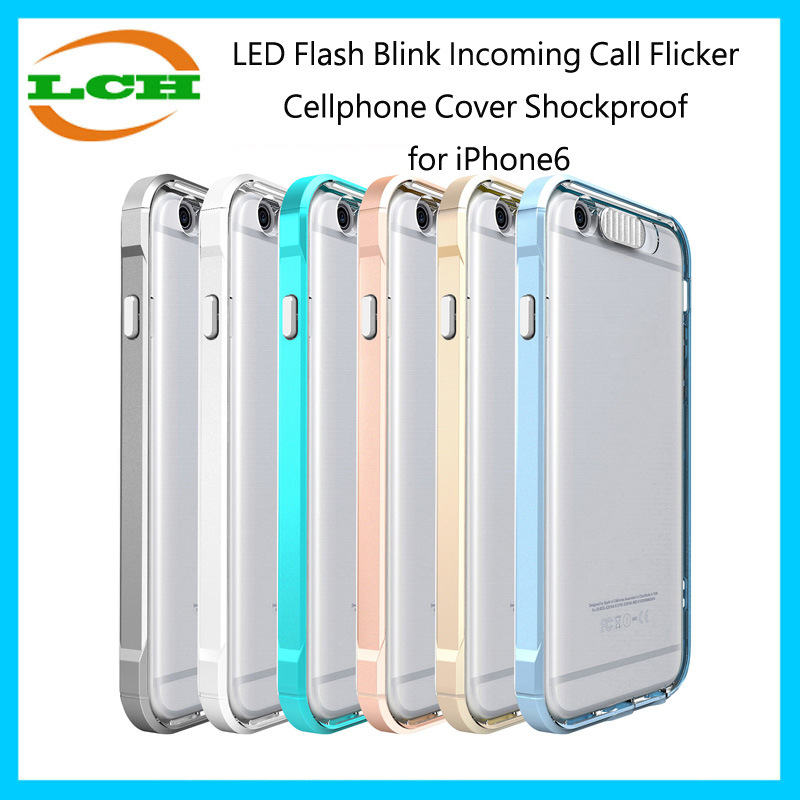 LED Flash Blink Incoming Call Flicker Shockproof Cellphone Cover Case for iPhone6