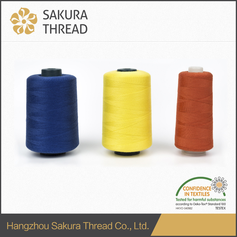 60/2 5000m Polyester Sewing Thread with Oeko-Tex China Factory pictures & photos