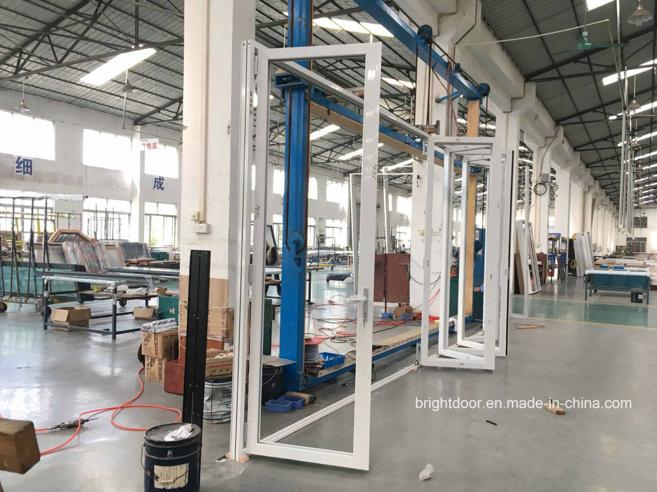 Exterior Strong Double Glazing Aluminum Bi Folding Door